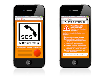 Application iPhone Android SOS Autoroutes